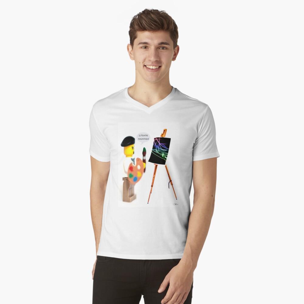 Le Peintre (The Painter) V-Neck T-Shirt