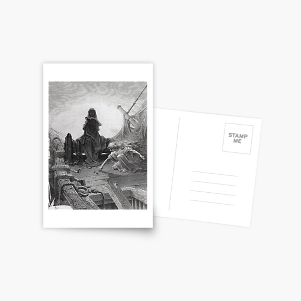 La muerte rueda los dados - Gustave Dore Postal