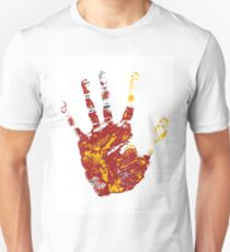 hand print design  Unisex T-Shirt