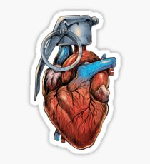 Heart Grenade Sticker