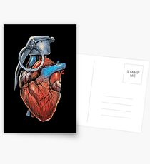 Heart Grenade Postcards