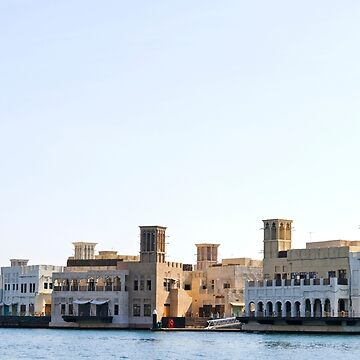 The historic waterfront at old Dubai city by FlatLandPrints