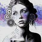 Ayil (vintage lady portrait, mandala doodles sketch) by kiss-my-art
