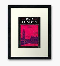 Red London Framed Print