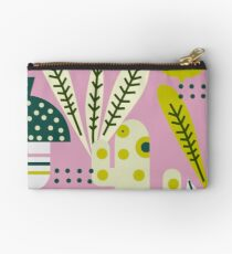 Contemporary acorns and mushrooms Studio Pouch