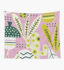 Contemporary acorns and mushrooms Wall Tapestry