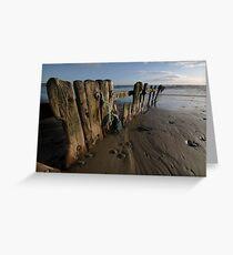Beach Groines Garretsown Cork Greeting Card