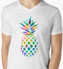 Rainbow Pineapple Men's V-Neck T-Shirt