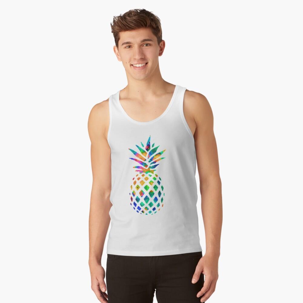 Rainbow Pineapple Tank Top