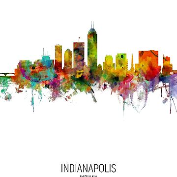 Indianapolis Indiana Skyline by ArtPrints