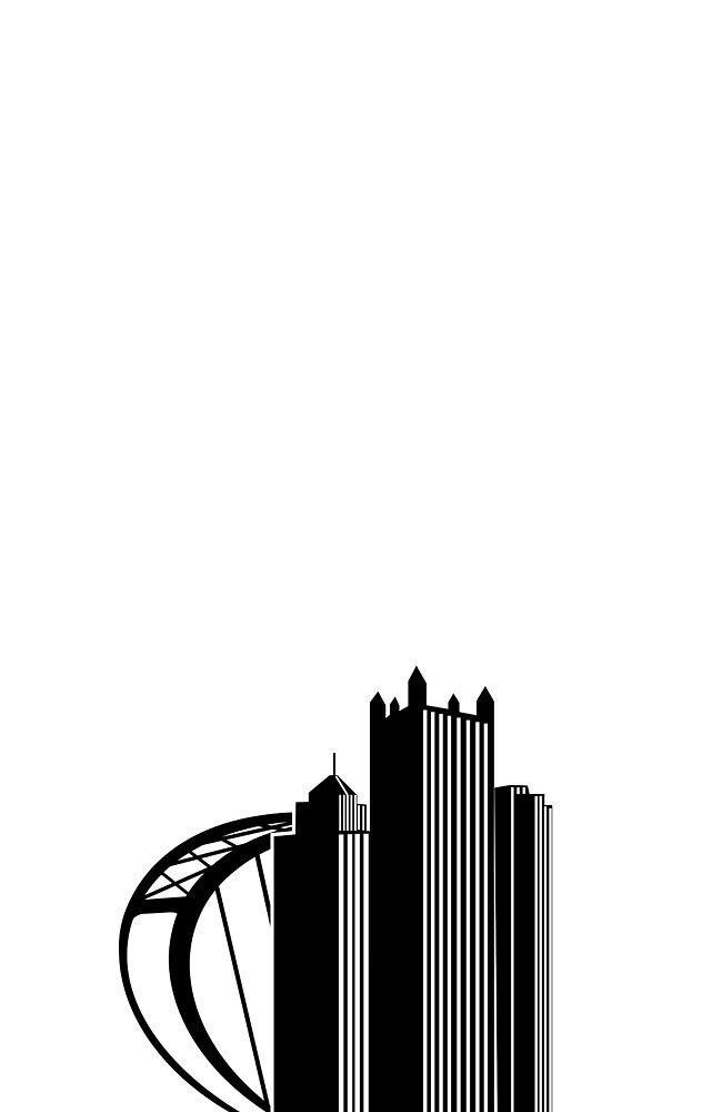 Pittsburgh Silhouette by ACImaging