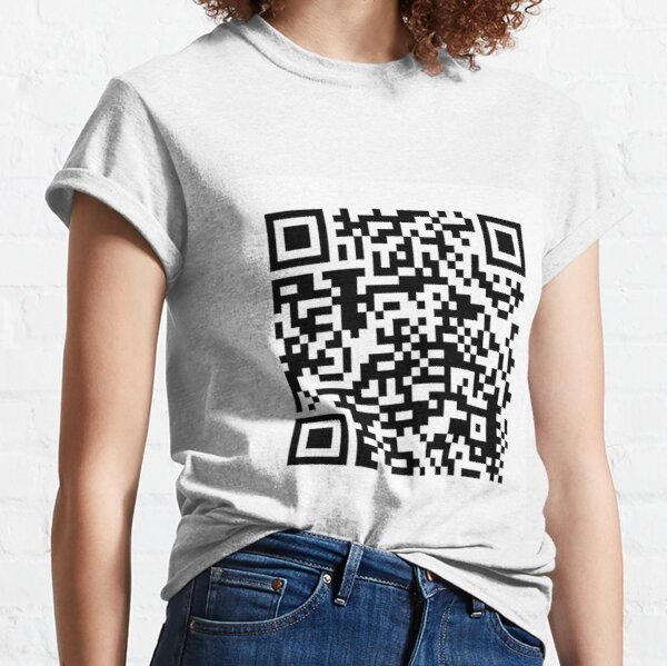 qr code for a free pdf of the communist manifesto by karl marx and friedrich engels Classic T-Shirt