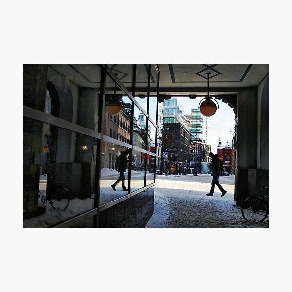 Reflection in city (Stockholm, Sweden) Photographic Print