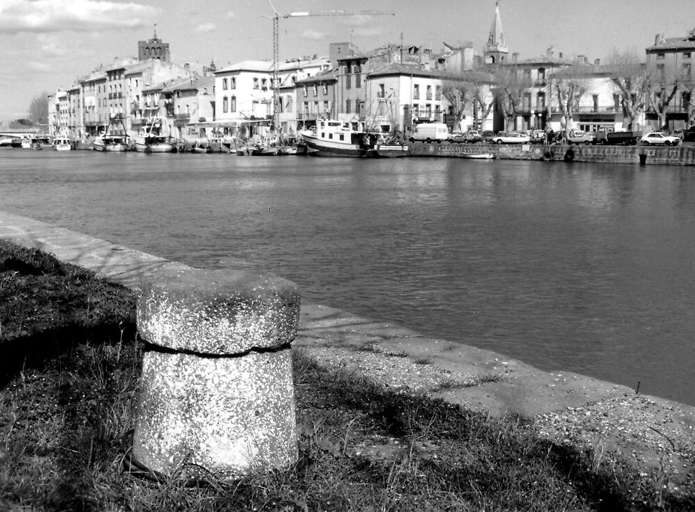 River front at Agde France by Paul Pasco