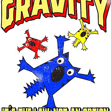 Funny Gravity Meme It's the Law Falling Cats Science by funnytshirtemp