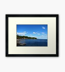 Duluth, MN: Land of Sky Blue Water Framed Print