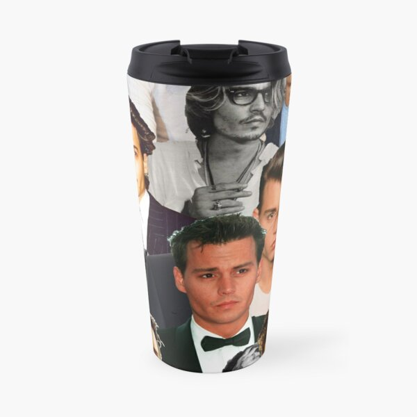 Johnny Depp Collage Travel Mug