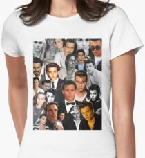 Johnny Depp Collage Women's Fitted T-Shirt