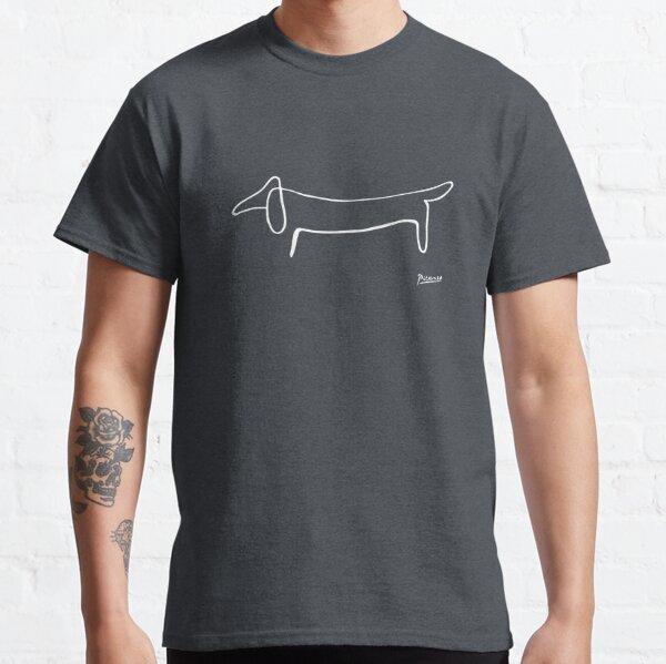Pablo Picasso, Dachshund Dog, Lump Artwork, Animals Line Sketch, Prints, Posters, Bags, Tshirts, Men, Women, Kids Classic T-Shirt