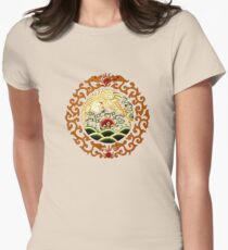 Asian Art Chinese Crane Womens Fitted T-Shirt