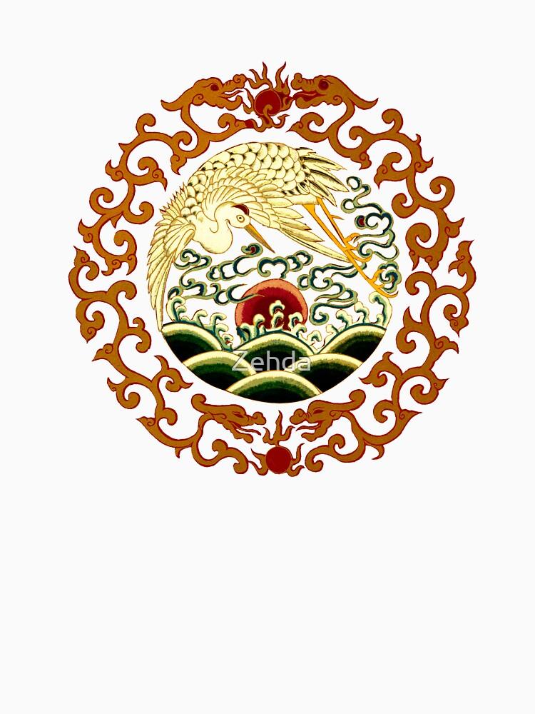 Asian Art Chinese Crane by Zehda