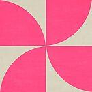 mod petals - hot pink by beverlylefevre