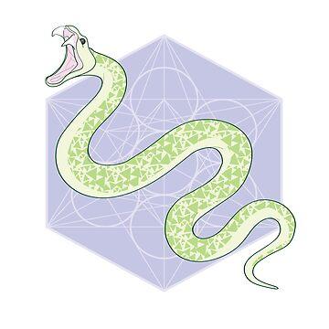 Snake on a polygonal plane by MichelleEatough