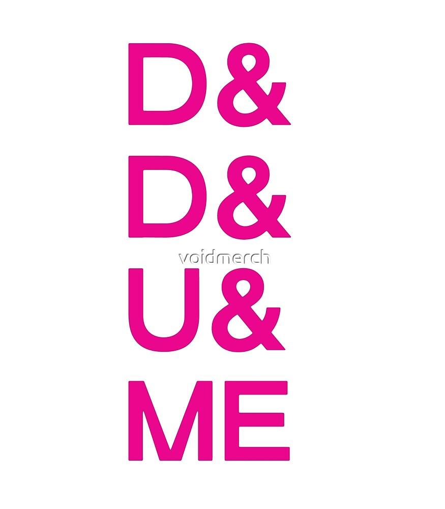 D&D&U&ME PINK FONT VALENTINE! by voidmerch