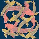 Koi Swimming Pisces  by DReneeWilson