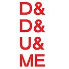 D&D&U&ME Valentines Card (RED) by voidmerch