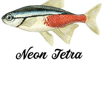 Neon Tetra - Neon Tetra Painting - Neon Tetra Shirt - Marine Biologist Gift - Fish Painting by Galvanized