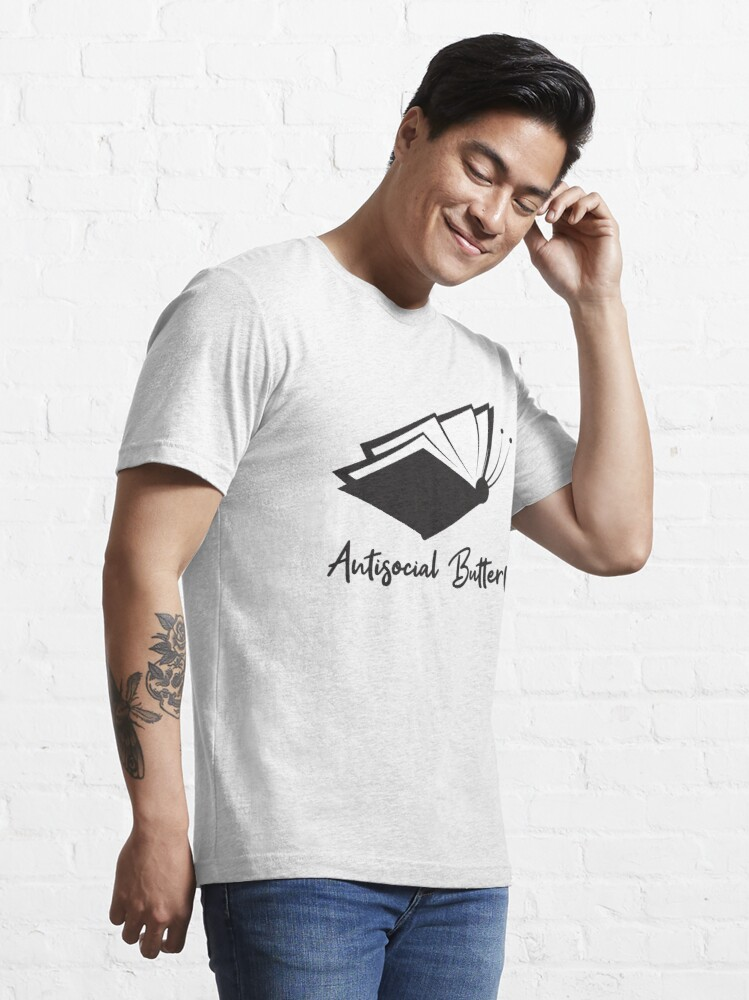Alternative Ansicht von Antisocial Butterfly Book Lover - Introverts Quotes Gift Essential T-Shirt