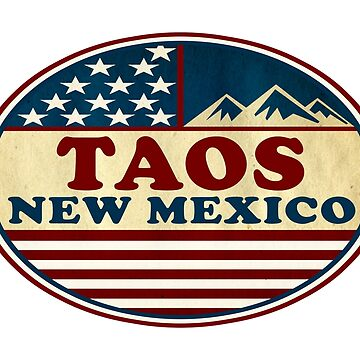 Ski Taos New Mexico Skiing Patriotic Red White Blue by MyHandmadeSigns