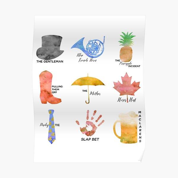 Symboles HIMYM Poster