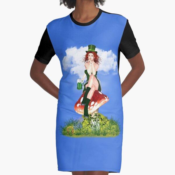 St. Patrick´s Day Design Red Pat T-Shirt Kleid