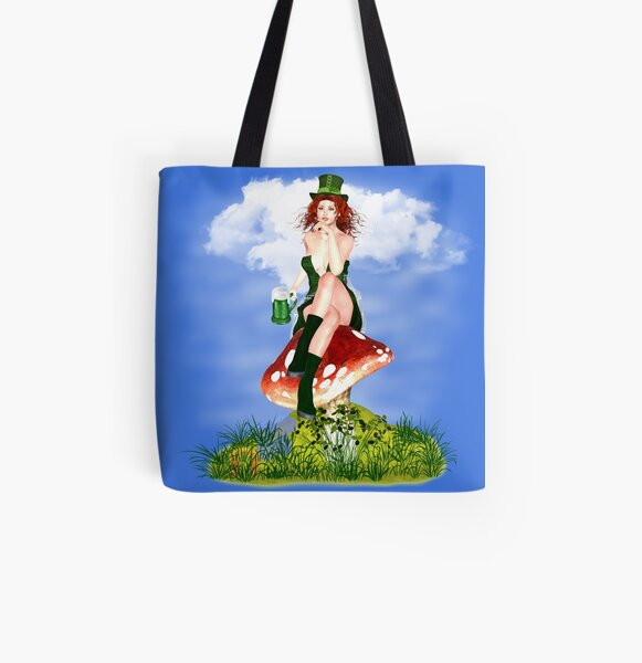 St. Patrick´s Day Design Red Pat Allover-Print Tote Bag