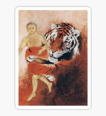 Tiger and Human Sticker
