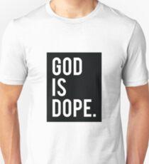 Camiseta ajustada Dios es Dope Black