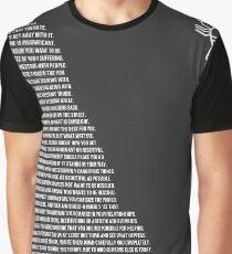Jordan B Petersons Regeln Grafik T-Shirt