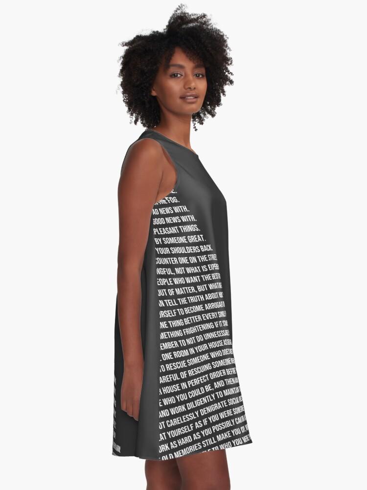 Alternative Ansicht von Jordan B Petersons Regeln A-Linien Kleid