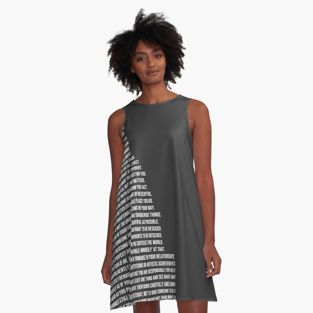 Jordan B Petersons Regeln A-Linien Kleid