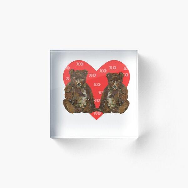 Teddy Bear Valentine Acrylic Block