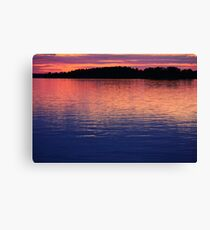 Close of a sunny summer day at the Baltic Sea Canvas Print