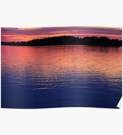 Close of a sunny summer day at the Baltic Sea Poster