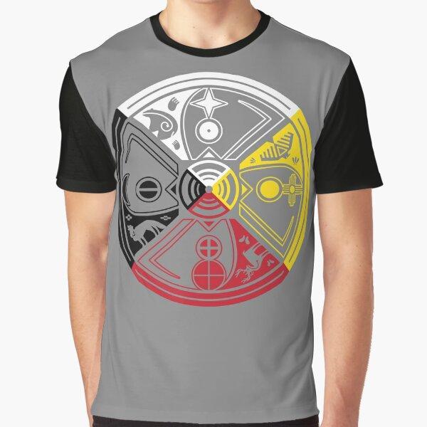 SACRED HOOP MEDICINE WHEEL Graphic T-Shirt