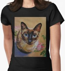 Siamese Cat Womens Fitted T-Shirt