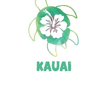 Sea Turtle Polynesian Hawaiian Honu Ocean Vacation Souvenir Hibiscus Flower Kauai by hlcaldwell