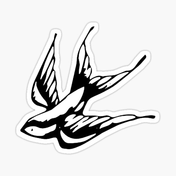Swallow Tattoo Shawn Mendes Sticker