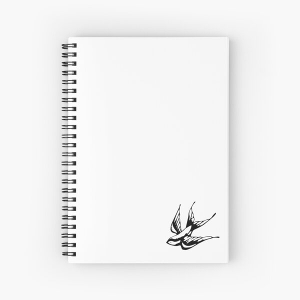 Swallow Tattoo Shawn Mendes Spiral Notebook