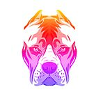 Pitbull T-shirt cute in color by Angie Stimson
